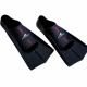 Kurze Schwimmflossen Training Fins in Schwarz Rot von Aquafeel Gr. 37-38