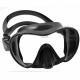 F1 Maske Cressi Tauchen und Schnorcheln Rahmenlose Tauchermaske Schwarz