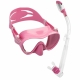 Schnorchelset mit rahmenloser Maske F1 und Dry Schnorchel von Cressi Sub Pink