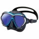 Paragon Tauchmaske verspiegelt Reinforced TRI-MIX-Rahmen Tusa Blue