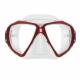 Spectra Zweiglas Tauchmaske mit Ultra Clear Gläsern von Scubapro in Transp. Rot