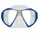 Spectra Zweiglas Tauchmaske mit Ultra Clear Gläsern von Scubapro in Transp. Blau Silber