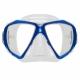 Spectra Zweiglas Tauchmaske mit Ultra Clear Gläsern von Scubapro in Transp. Blau