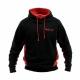 Hollis Sweatshirt Hoodie Pullover Schwarz Rot Gr. L