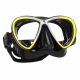 Synergy Twin Ultra Clear Tauchmaske von Scubapro in Schwarz Gelb