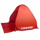Wurfzelt Strandmuschel Beach Tent Cressi Rot