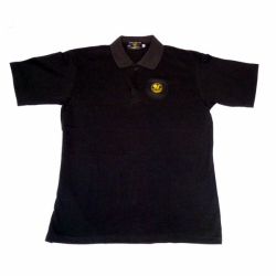 Poseidon Polo Shirt, schwarz mit Logo aus Baumwolle