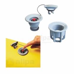 Universalventil mit Push-Push System, komplett mit Schlauchnippelkit von Allpa