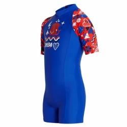 Kinder Schwimmanzug Blau Rot Speedo Gr. 104
