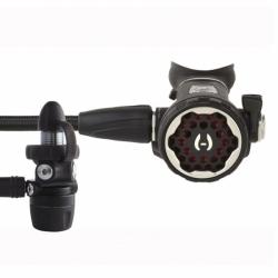 Hollis 150LX + DC7 Atemregler Miflexschlauch DIN