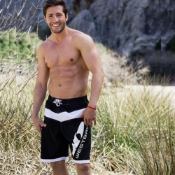 Herren Bermuda Shorts 24854 Strandhose in Schwarz-Weiß von Westbay