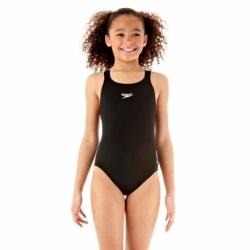 Mädchen Badeanzug Essential Endurance Plus Medalist in Schwarz von Speedo
