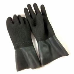 Latex Handschuhe schwarz mit rauher Oberfläche Si Tech