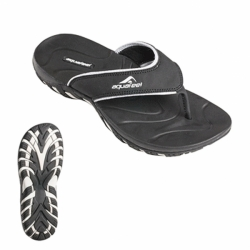 Herren V-Strap Flip Flop Zehensandale in Schwarz von Aquafeel Fashy New Version 7544