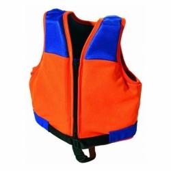 Kinder Schwimmweste Orange Blau mit Schrittgurt und Reißverschluss von Fashy