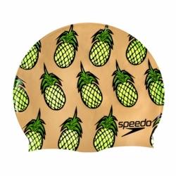 Junior Slogan Print Badekappe Motiv Ananas von Speedo