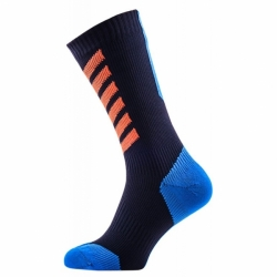 MTB Mid Hydrostop Black Blue Orange wasserdichte Socken Sealskinz