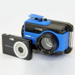 RC 16 Digital Unterwasserkamera mit Gehäuse von Riff