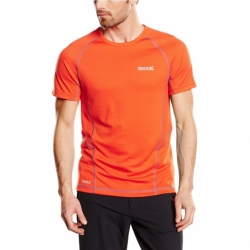 Luray kurzarm Herren T-Shirt schnelltrocknend in Orange von Regatta