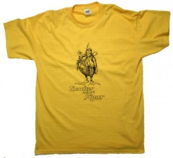 T Shirt Taucher zeigen Figur in Gelb Funshirt