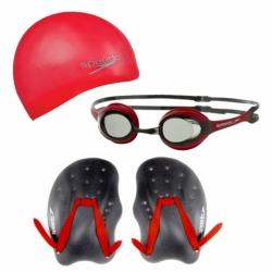 Comboset Performance Training Pack bestehend aus Schwimmbrille Badekappe und Handpaddle von Speedo