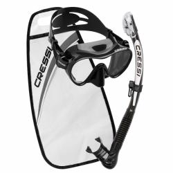 Alpha Ultra Dry Schnorchelset F1 Maskenset Cressi Schwarz
