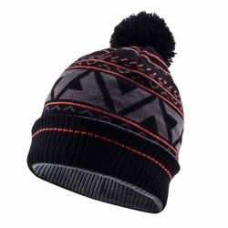 Waterproof Bobble Hat Schwarz Grau Rot Sealskinz