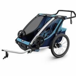 Thule Chariot Cross 2 Fahrradanhänger Zweisitzer Blau