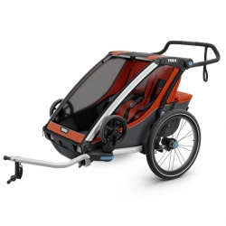 Thule Chariot Cross 2 Fahrradanhänger Zweisitzer Orange