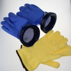 Checkup Dive System Trockentauchhandschuhe Blau Set 89mm Gr. XL ohne Anzuzgring