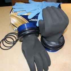 Checkup Dive System Trockentauchhandschuhe Schwarz im Set
