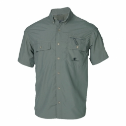 Coyote bequemes Sommer-Hemd-Shirt aus Supplex in Olive von Wolf Camper