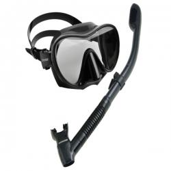 Schnorchelset mit rahmenloser Maske F1 und Dry Schnorchel von Cressi Sub