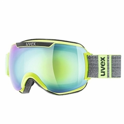 Downhill 2000 Skibrille Lime Grey FM Full Mirrow Uvex