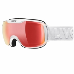 Downhill 2000 Skibrille White VFM variomatic full red mirrow Uvex