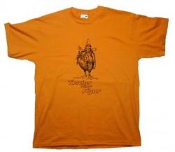 T Shirt Taucher zeigen Figur in Orange Funshirt