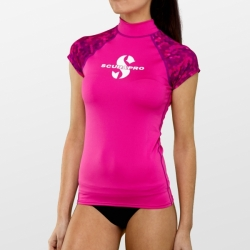 Flamingo Damen Rash Guard kurzarm Schnorchelshirt UPF 50