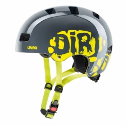 kid 3 dirtbike Kinder Fahhradhelm Uvex Grey Lime Gr. 51-55 cm