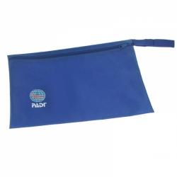 Padi Aufbewahrungstasche mit Zip 35x 24 cm Carring Bag in Blau