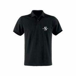 Gr. M Herren Poloshirt schwarz mit Logo Bestickung Scubapro