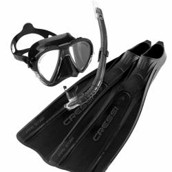 Pro Star Set Black Schnorchelset Flossen Maske Schnorchel in Schwarz von Cressi