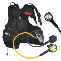 Komplettset Tauchjacket Club Atemreglerset Rental Kit P-Syncro + Octo und Manometer Seac Sub
