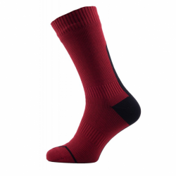 Road Thin Mid Sock mit Hydrostop in Rot Schwarz von Sealskinz