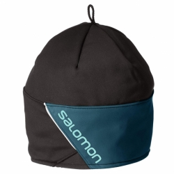 Salomon Universal Stretch Beanie L40293800 Regular black-reflecting pond