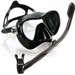 Cressi Tauchen Schnorcheln Freitauchen Maske Schnorchelset Tauchset Maske Piuma EVO Crystal und Schnorchel Dry