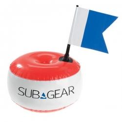 Signalboje rund mit Alpha Flagge Sub Gear PVC