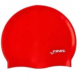 Silikon Cap Badekappe Schwimmhaube Finis Farbe Rot