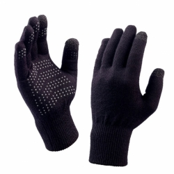 Merino Sport Freizeit Handschuhe Black - Clear Dots One Size
