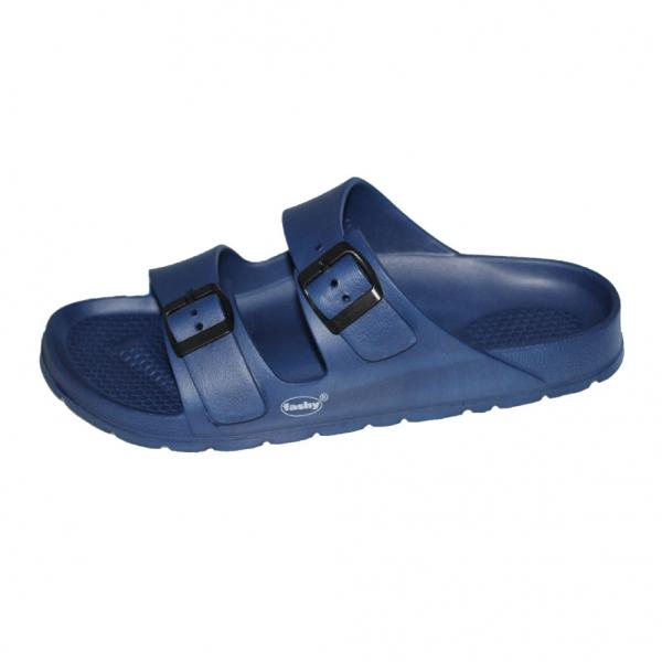 Benton Herren Badepantoletten Blau Fashy