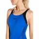 Boom Splice Muscleback Badeanzug Blau Speedo